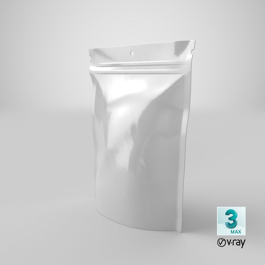 Doypack Pouch royalty-free 3d model - Preview no. 22