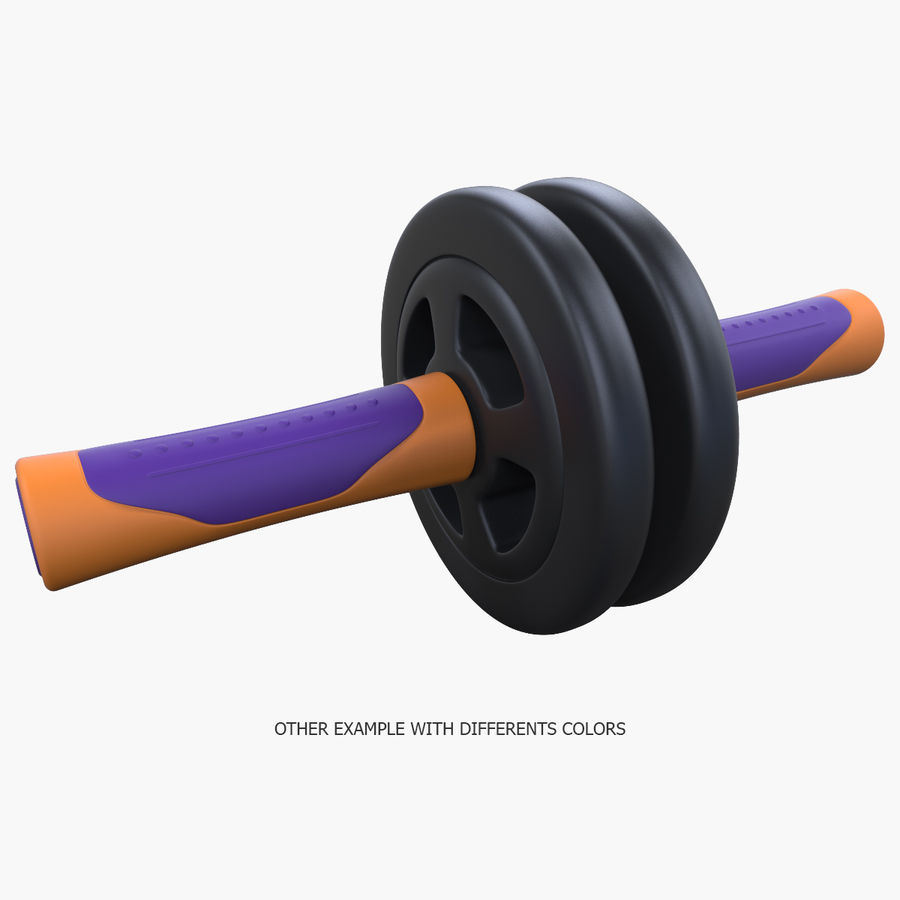 Double Rollers Övningar Utbildning Sarneige royalty-free 3d model - Preview no. 12