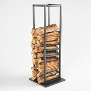 Vertical Stack Of Firewood 3d model