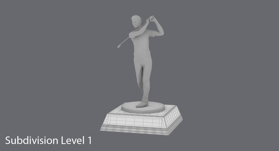 高尔夫奖杯 royalty-free 3d model - Preview no. 15