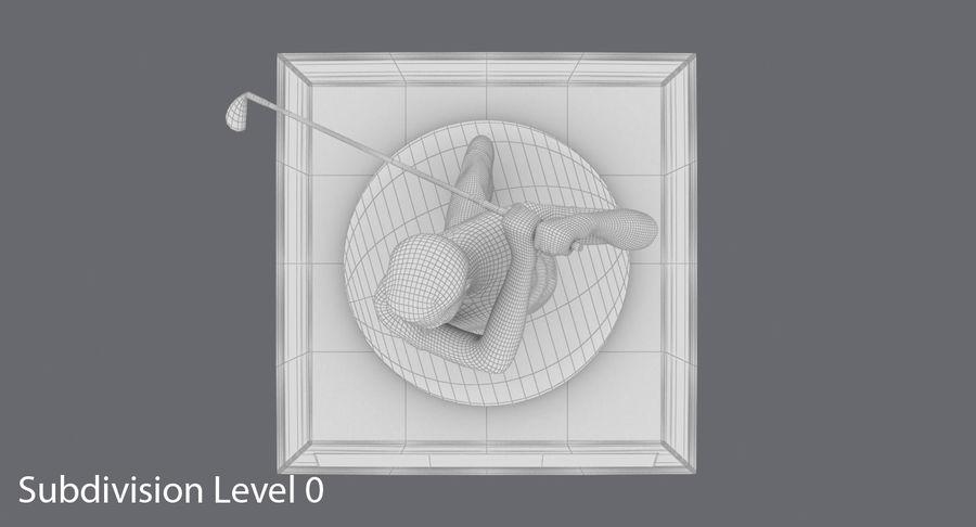高尔夫奖杯 royalty-free 3d model - Preview no. 13