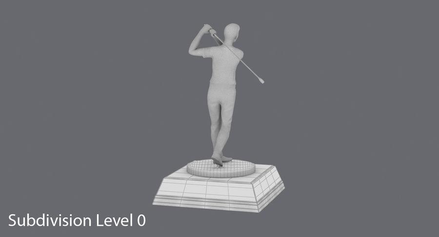 高尔夫奖杯 royalty-free 3d model - Preview no. 14