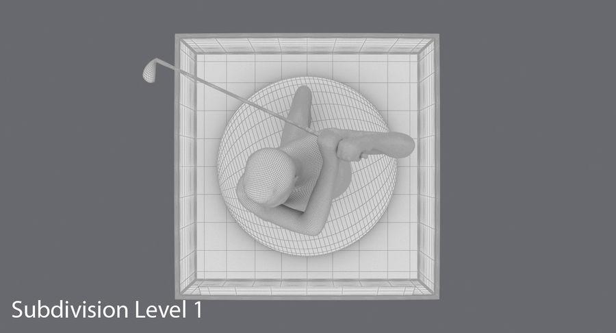 高尔夫奖杯 royalty-free 3d model - Preview no. 16