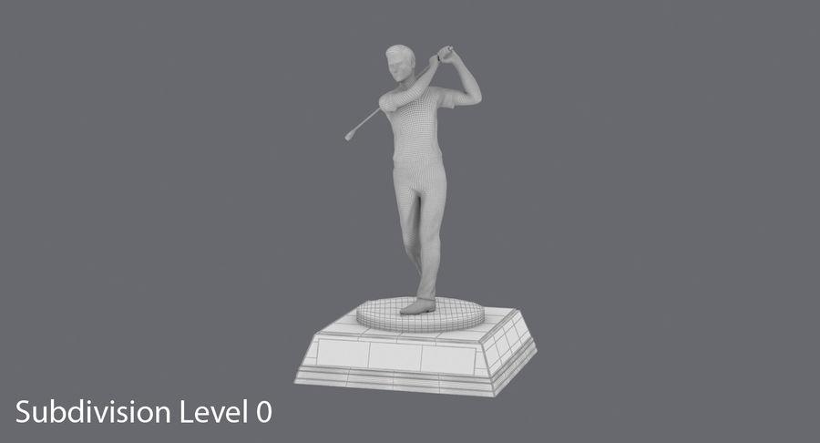 高尔夫奖杯 royalty-free 3d model - Preview no. 12
