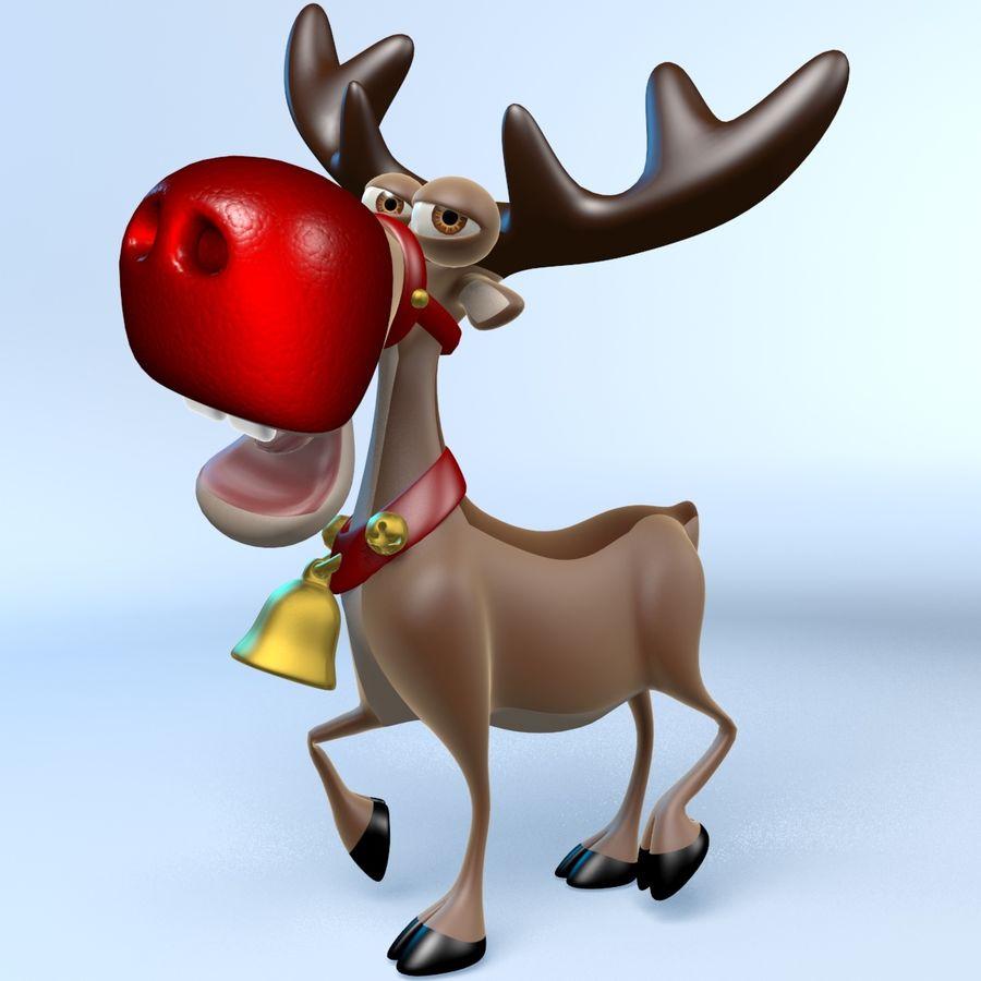Rudolph La Renna Di Babbo Natale.Babbo Natale Slitta E Renne Rudolph Modello 3d 49 Max Free3d