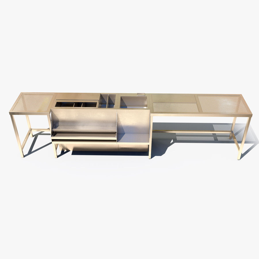 Bar Station royalty-free 3d model - Preview no. 2