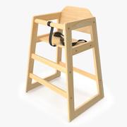 아기 높은 의자 02 3d model