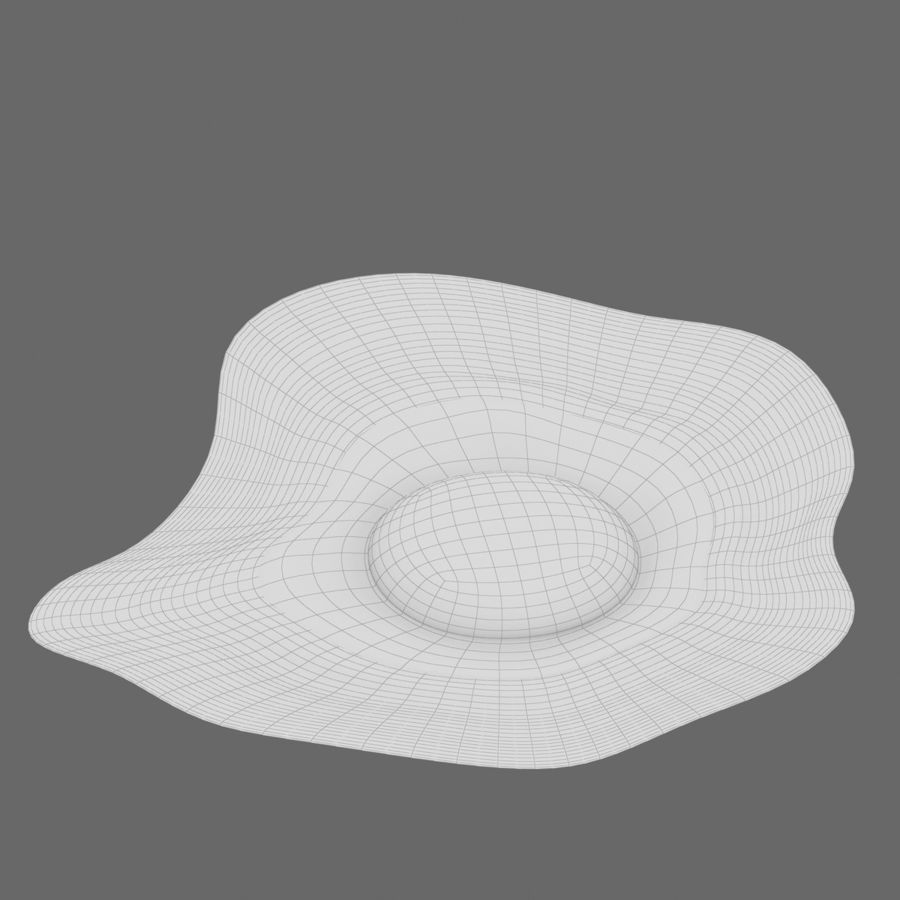 Fried Egg royalty-free 3d model - Preview no. 18