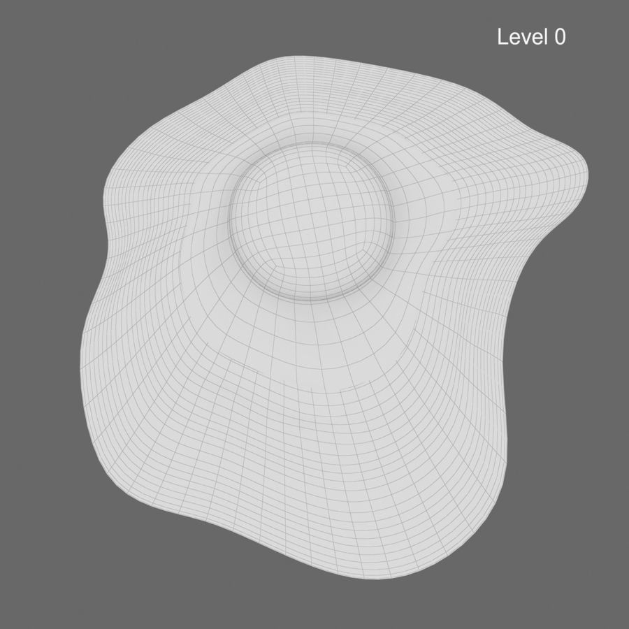 Fried Egg royalty-free 3d model - Preview no. 13