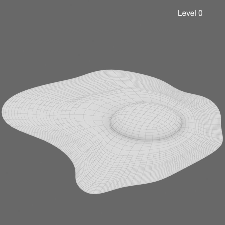 Fried Egg royalty-free 3d model - Preview no. 11