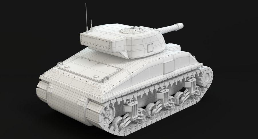 Cartoon Sherman Tank royalty-free 3d model - Preview no. 15