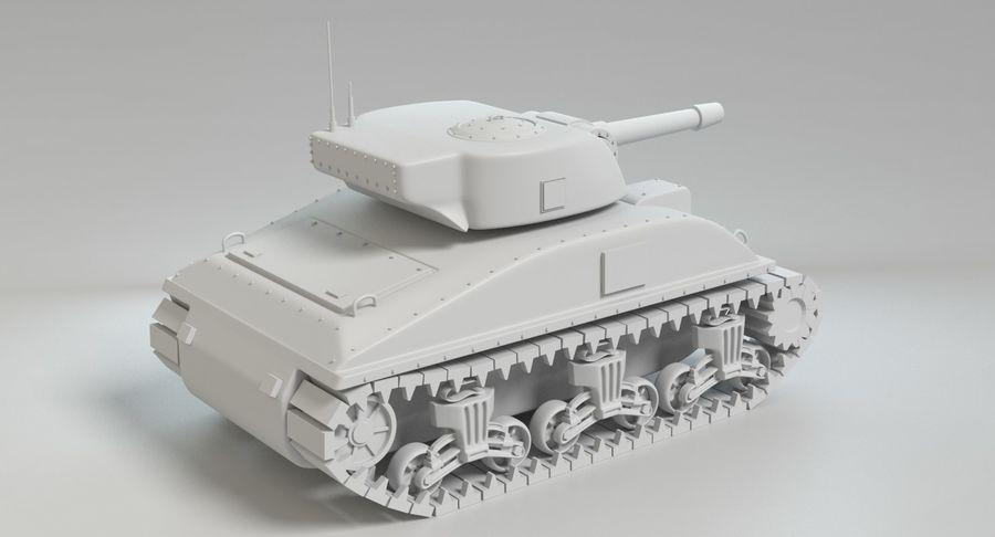 Cartoon Sherman Tank royalty-free 3d model - Preview no. 12