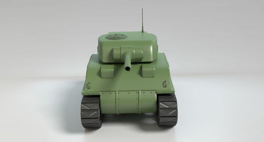 Cartoon Sherman Tank royalty-free 3d model - Preview no. 9