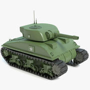 Cartoon Sherman Tank 3d model