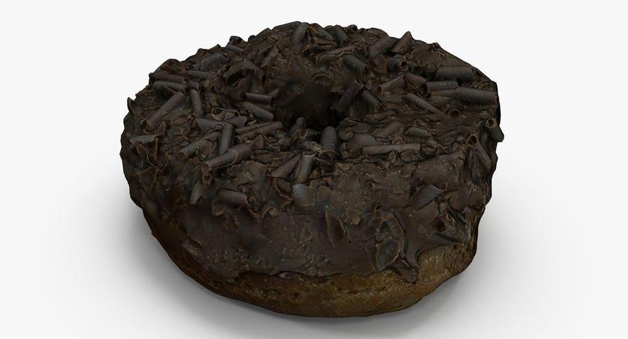 チョコレートドーナツ01 royalty-free 3d model - Preview no. 5