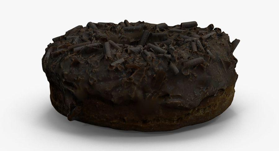 チョコレートドーナツ01 royalty-free 3d model - Preview no. 8