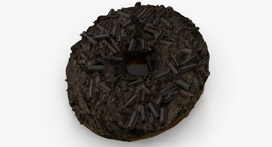 Chocolate Donut 01 royalty-free 3d model - Preview no. 7