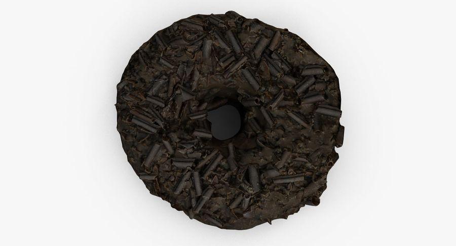チョコレートドーナツ01 royalty-free 3d model - Preview no. 4