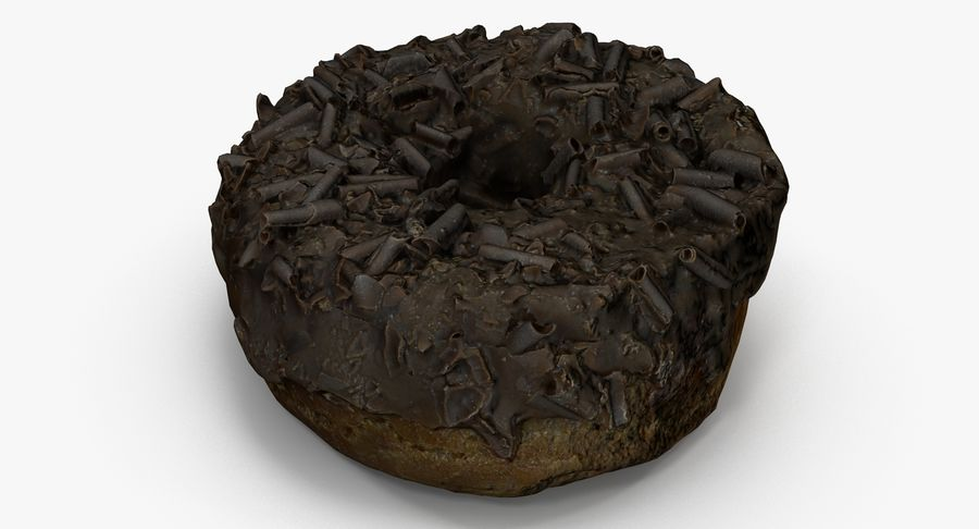 Chocolate Donut 01 royalty-free 3d model - Preview no. 2