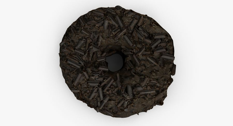 Chocolate Donut 01 royalty-free 3d model - Preview no. 4