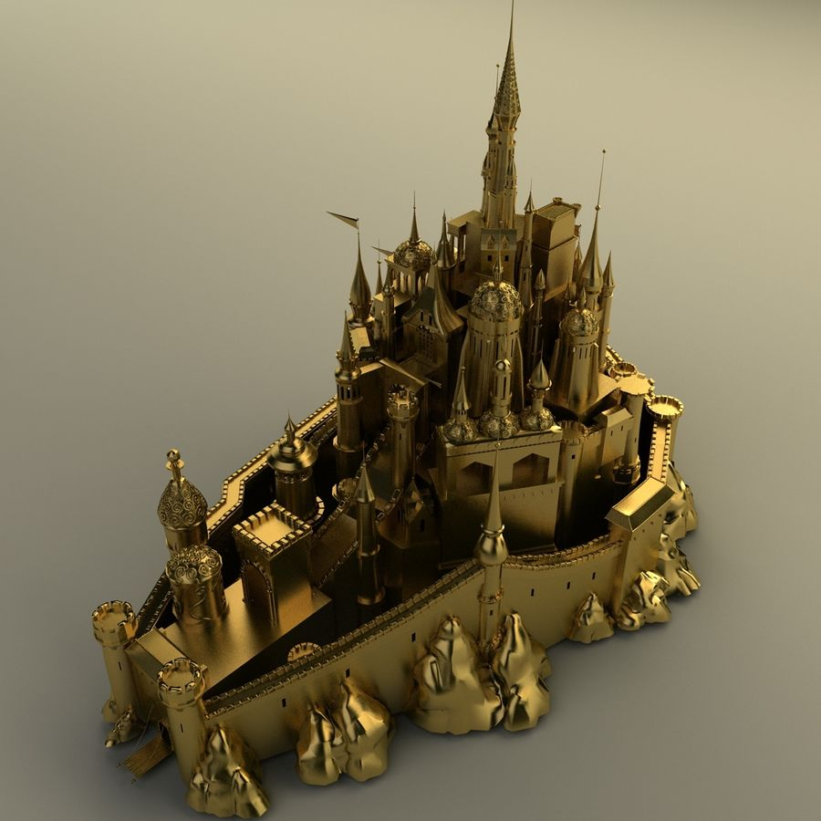 Castelo royalty-free 3d model - Preview no. 1