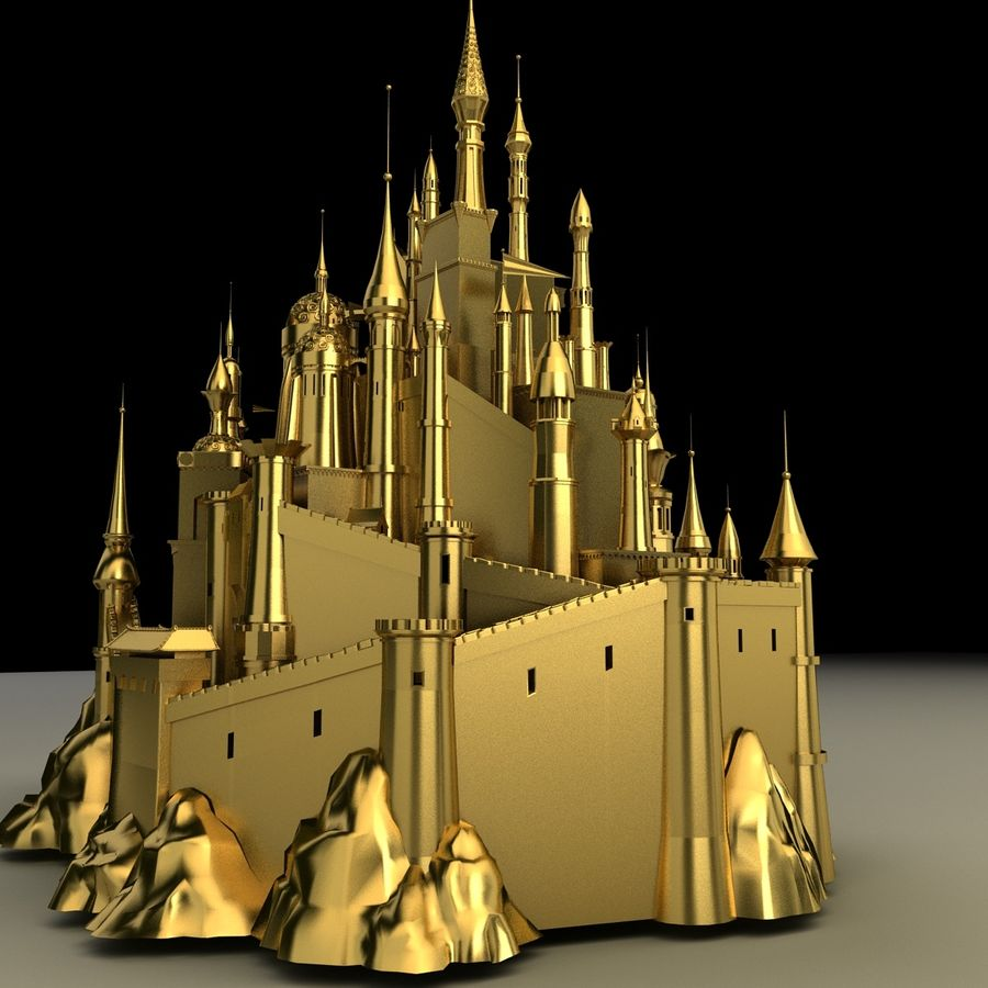 Castelo royalty-free 3d model - Preview no. 5