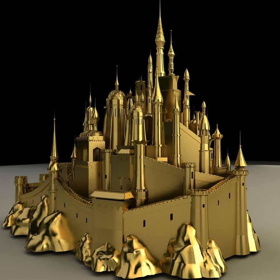 Castelo royalty-free 3d model - Preview no. 4
