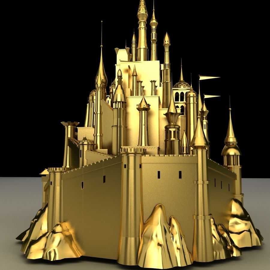 Castelo royalty-free 3d model - Preview no. 6