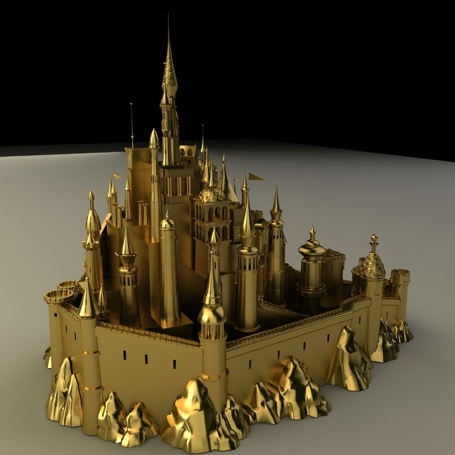 Castelo royalty-free 3d model - Preview no. 7