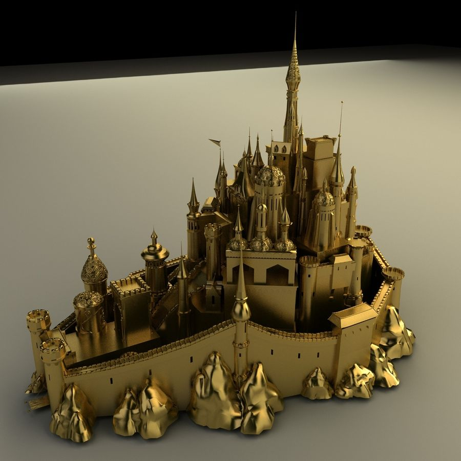 Castelo royalty-free 3d model - Preview no. 3