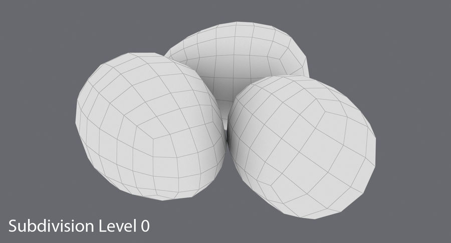 Œufs de caille royalty-free 3d model - Preview no. 12