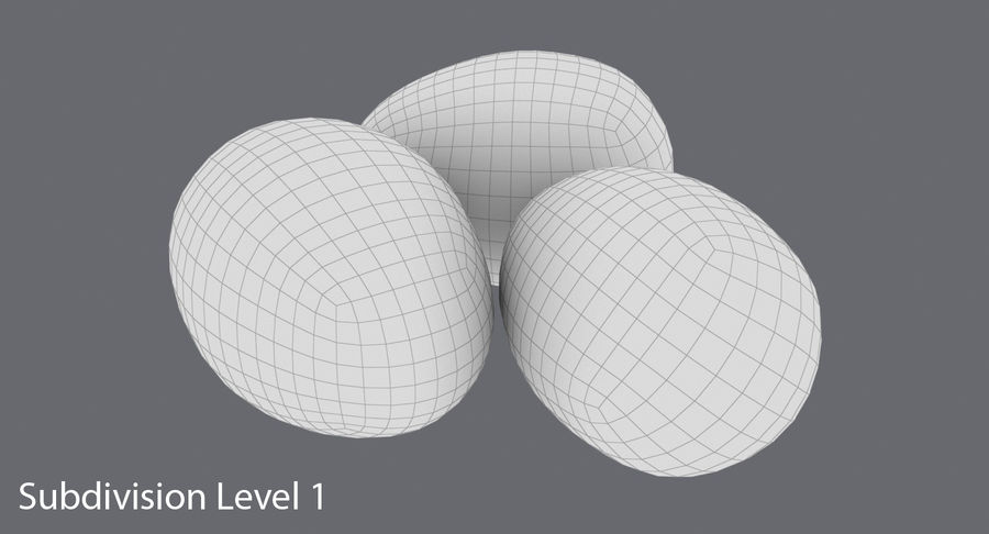 Œufs de caille royalty-free 3d model - Preview no. 15