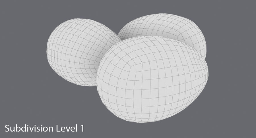 Œufs de caille royalty-free 3d model - Preview no. 17
