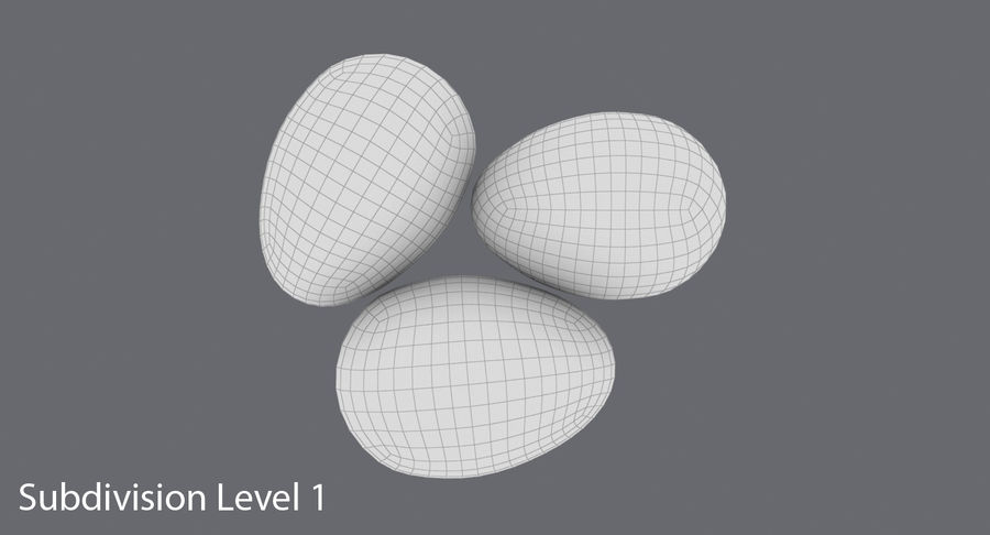 Œufs de caille royalty-free 3d model - Preview no. 16