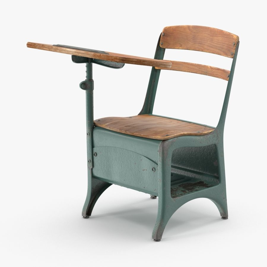 Antique School Desk 01 royalty-free 3d model - Preview no. 1 - Antique School Desk 01 3D Model $29 - .max - Free3D