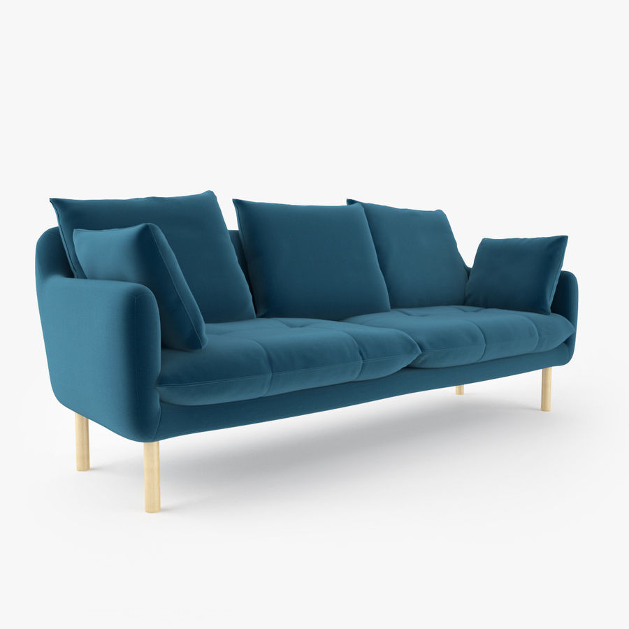 Jardan Andy Sofa and Armchair royalty-free 3d model - Preview no. 4