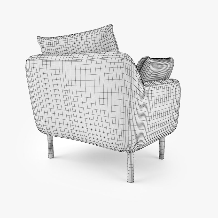 Jardan Andy Sofa and Armchair royalty-free 3d model - Preview no. 18
