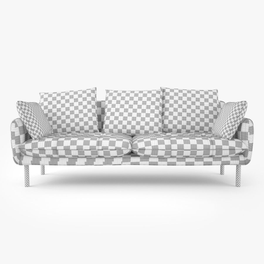 Jardan Andy Sofa and Armchair royalty-free 3d model - Preview no. 13