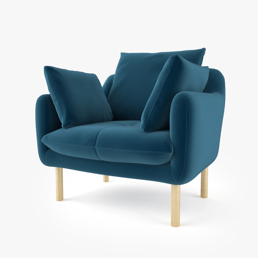 Jardan Andy Sofa and Armchair royalty-free 3d model - Preview no. 9
