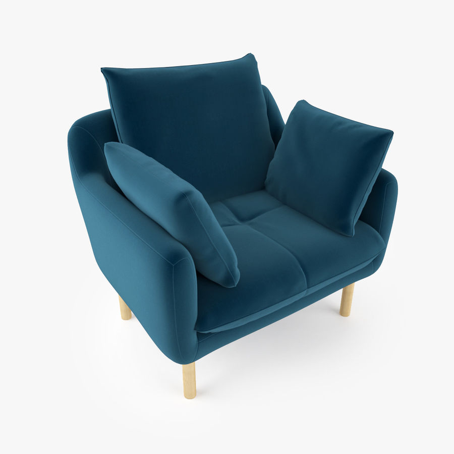 Jardan Andy Sofa and Armchair royalty-free 3d model - Preview no. 11