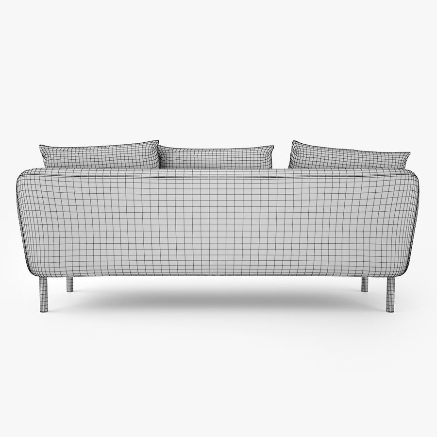 Jardan Andy Sofa and Armchair royalty-free 3d model - Preview no. 16