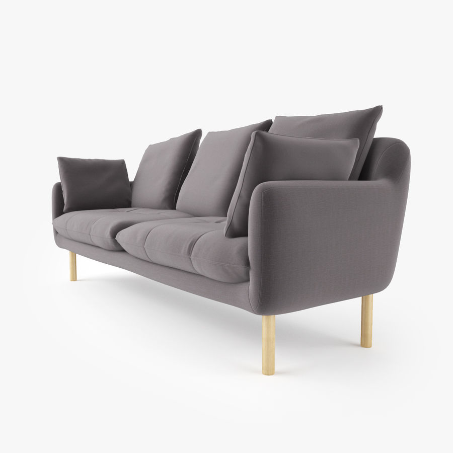 Jardan Andy Sofa and Armchair royalty-free 3d model - Preview no. 5