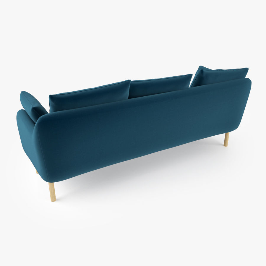 Jardan Andy Sofa and Armchair royalty-free 3d model - Preview no. 7
