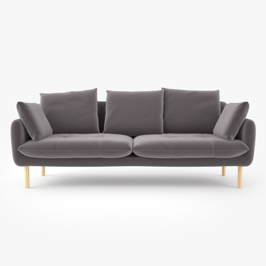 Jardan Andy Sofa and Armchair royalty-free 3d model - Preview no. 3