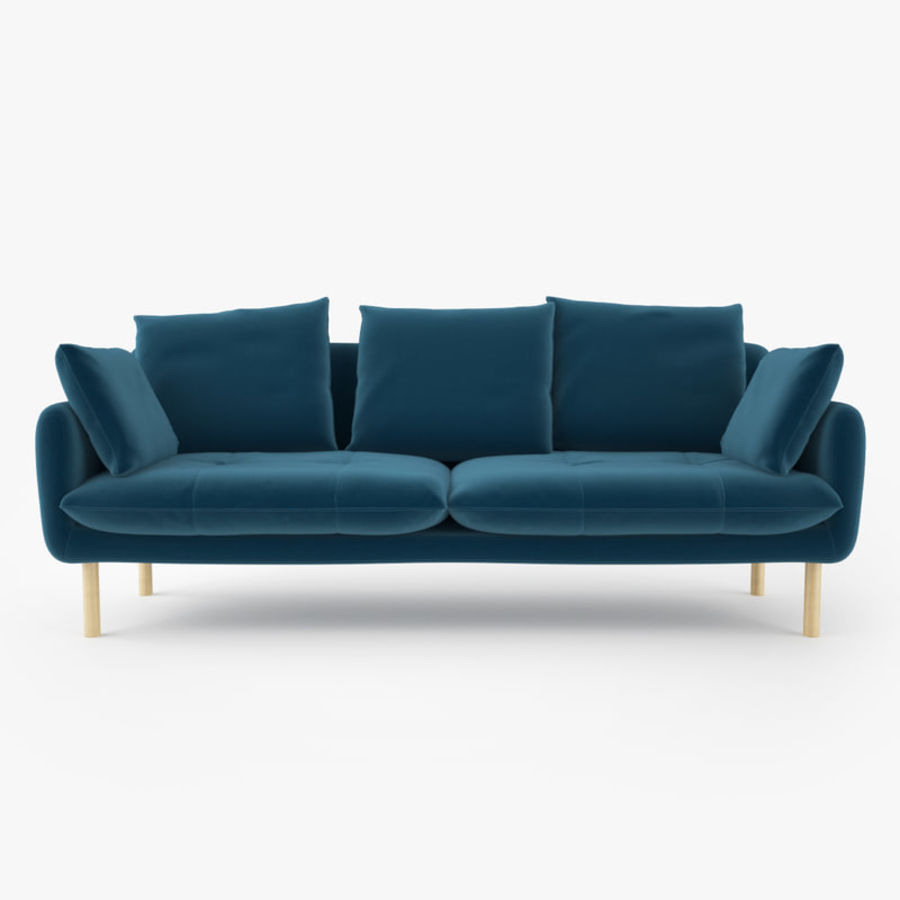 Jardan Andy Sofa and Armchair royalty-free 3d model - Preview no. 2