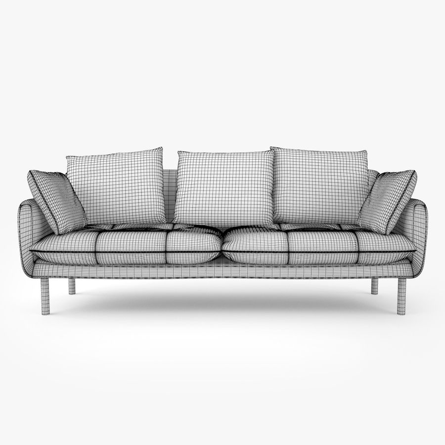 Jardan Andy Sofa and Armchair royalty-free 3d model - Preview no. 15