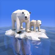 Urso Polar Low Poly 3d model