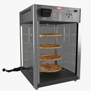 Chauffe-pizza et présentoir à pizza de comptoir 3d model
