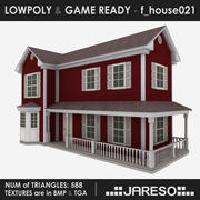 Maison de famille Lowpoly - f_house021_3ds.rar 3d model