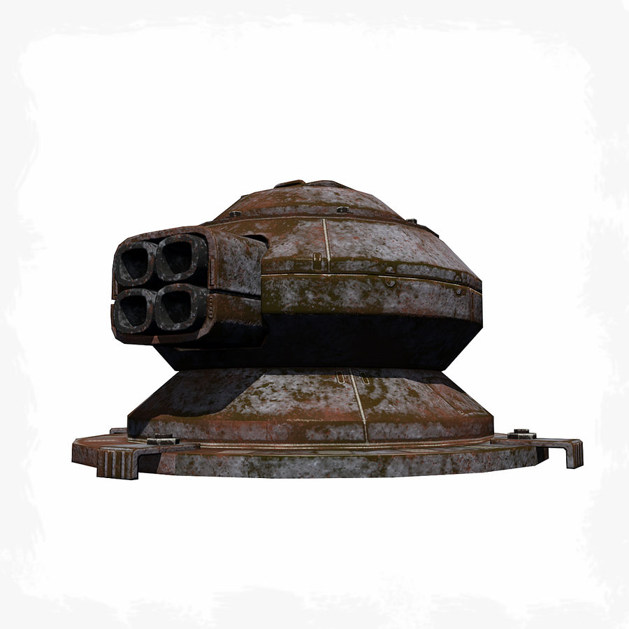 Sci Fi Turret royalty-free 3d model - Preview no. 1